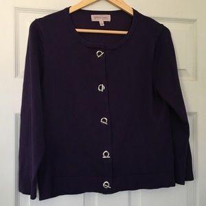 Philosophy think knit purple cardigan Size L
